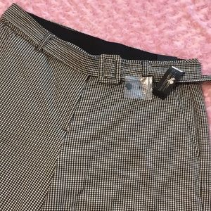 New Lane Bryant Sz 20 Checks Culottes Capri Pants.